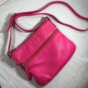 Kate spade pink Crossbody leather